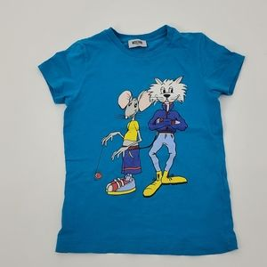 Moschino teen cat and mouse t shirt.